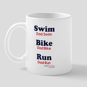 Triathlon Dad Mug