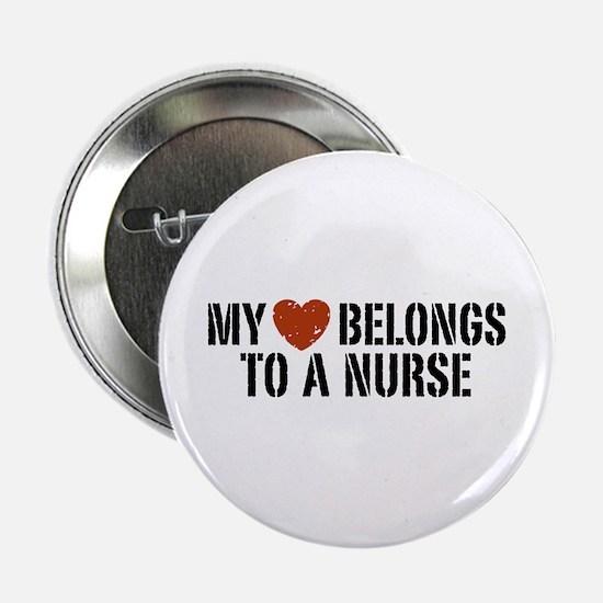 """My Heart Belongs to a Nurse 2.25"""" Button"""