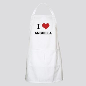 I Love Anguilla BBQ Apron
