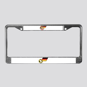 German Football Flag License Plate Frame
