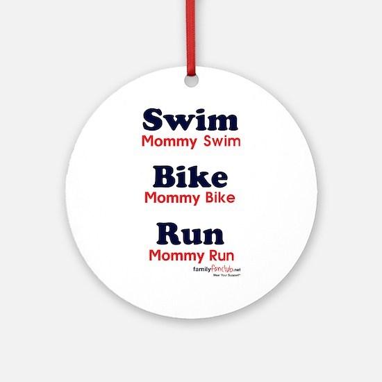 Triathlon Mommy Ornament (Round)