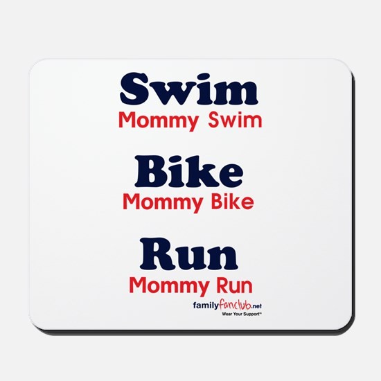 Triathlon Mommy Mousepad