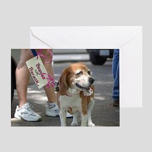 Beagles for Barack Greeting Card
