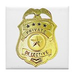 Private Detective Tile Coaster