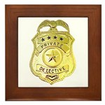 Private Detective Framed Tile