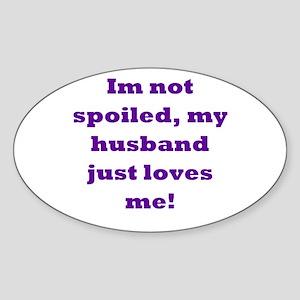 Funny Stuff Oval Sticker