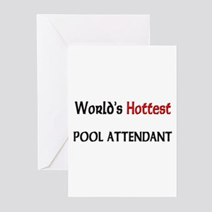 World's Hottest Pool Attendant Greeting Cards (Pk