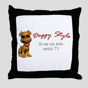 Doggy Style Throw Pillow