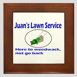 Juan's Lawn Service Immigration Framed Tile