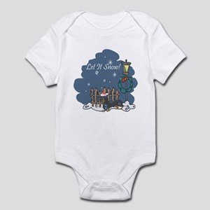 Let It Snow Dachshund Infant Bodysuit