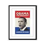Obama JFK '60-Style Framed Panel Print
