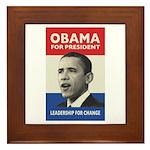 Obama JFK '60-Style Framed Tile