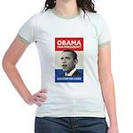 Obama JFK '60-Style Jr. Ringer T-Shirt