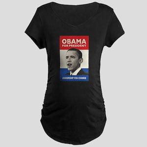 Obama JFK '60-Style Maternity Dark T-Shirt