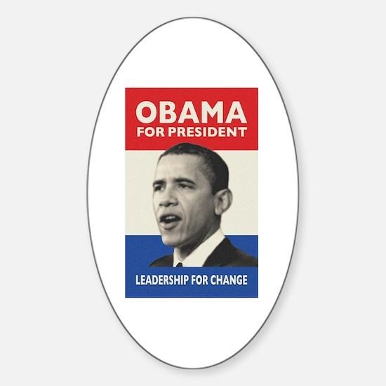 Obama JFK '60-Style Oval Decal