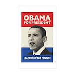 Obama JFK '60-Style Rectangle Sticker 10 pk)