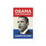 Obama JFK '60-Style Rectangle Sticker 50 pk)