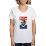Obama JFK '60-Style Women's V-Neck T-Shirt