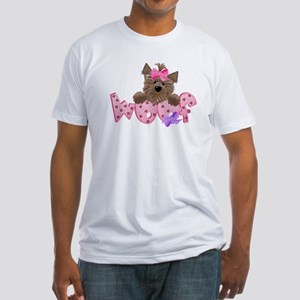 Yorkie girl Woof Fitted T-Shirt