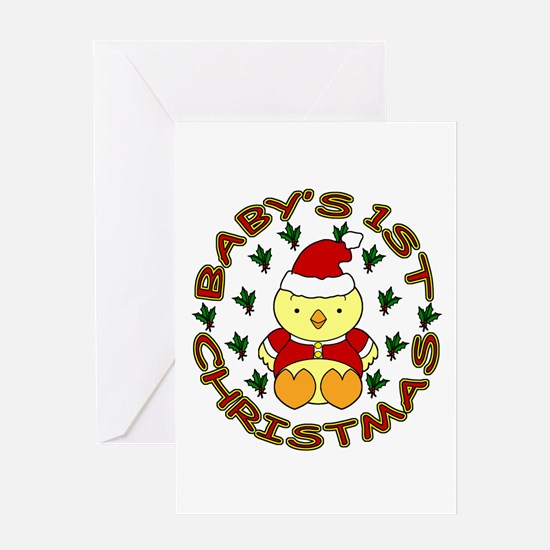 Baby's 1st Christmas Greeting Card