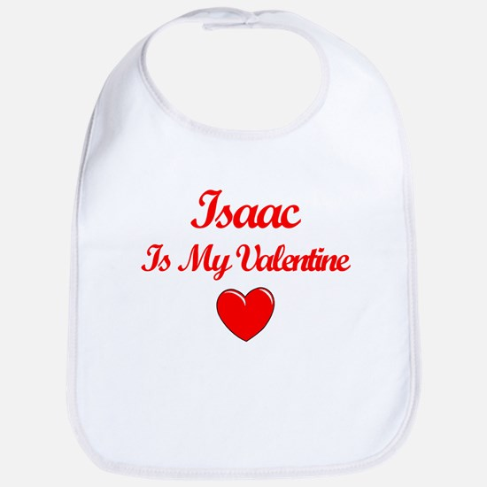 Isaac Is My Valentine Bib