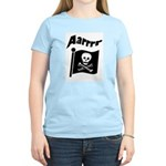 Pirate Flag- Jolly Roger Women's Pink T-Shirt