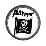 Pirate Flag- Jolly Roger Wall Clock