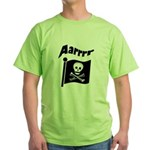 Pirate Flag- Jolly Roger Green T-Shirt