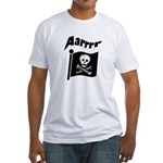 Pirate Flag- Jolly Roger Fitted T-Shirt