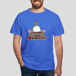 Bear and Books 3rd Grade Dark T-Shirt