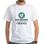 Beer Drinkers for Obama White T-Shirt