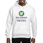 Beer Drinkers for Obama Hooded Sweatshirt