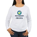 Beer Drinkers for Obama Women's Long Sleeve T-Shir
