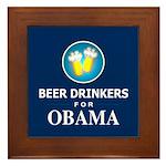 Beer Drinkers Obama Framed Tile