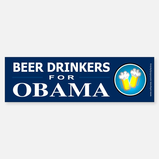 Beer Drinkers for Obama Bumper Bumper Bumper Sticker