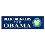 Beer Drinkers for Obama Bumper Sticker