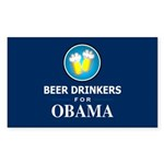 Beer Drinkers for Obama Rectangle Sticker 10 pk)