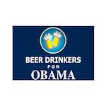 Beer Drinkers Obama Rectangle Magnet (10 pack)