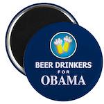 Beer Drinkers for Obama Magnet