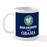 Beer Drinkers for Obama Dark Mug