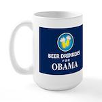 Beer Drinkers for Obama Dark Large Mug