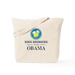 Beer Drinkers for Obama Tote Bag
