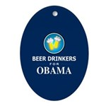 Beer Drinkers Obama Oval Ornament