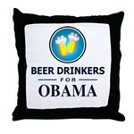 Beer Drinkers Obama Throw Pillow