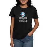 BOWLERS FOR OBAMA Women's Dark T-Shirt