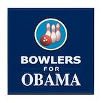 BOWLERS FOR OBAMA Tile Coaster