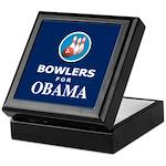 BOWLERS FOR OBAMA Keepsake Box