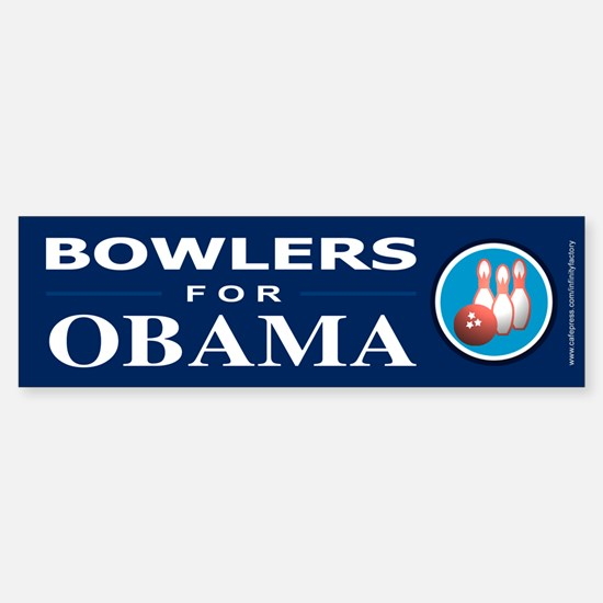 BOWLERS FOR OBAMA Bumper Bumper Bumper Sticker