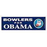BOWLERS FOR OBAMA Bumper Sticker (10 pk)