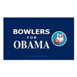 BOWLERS FOR OBAMA Rectangle Sticker 10 pk)